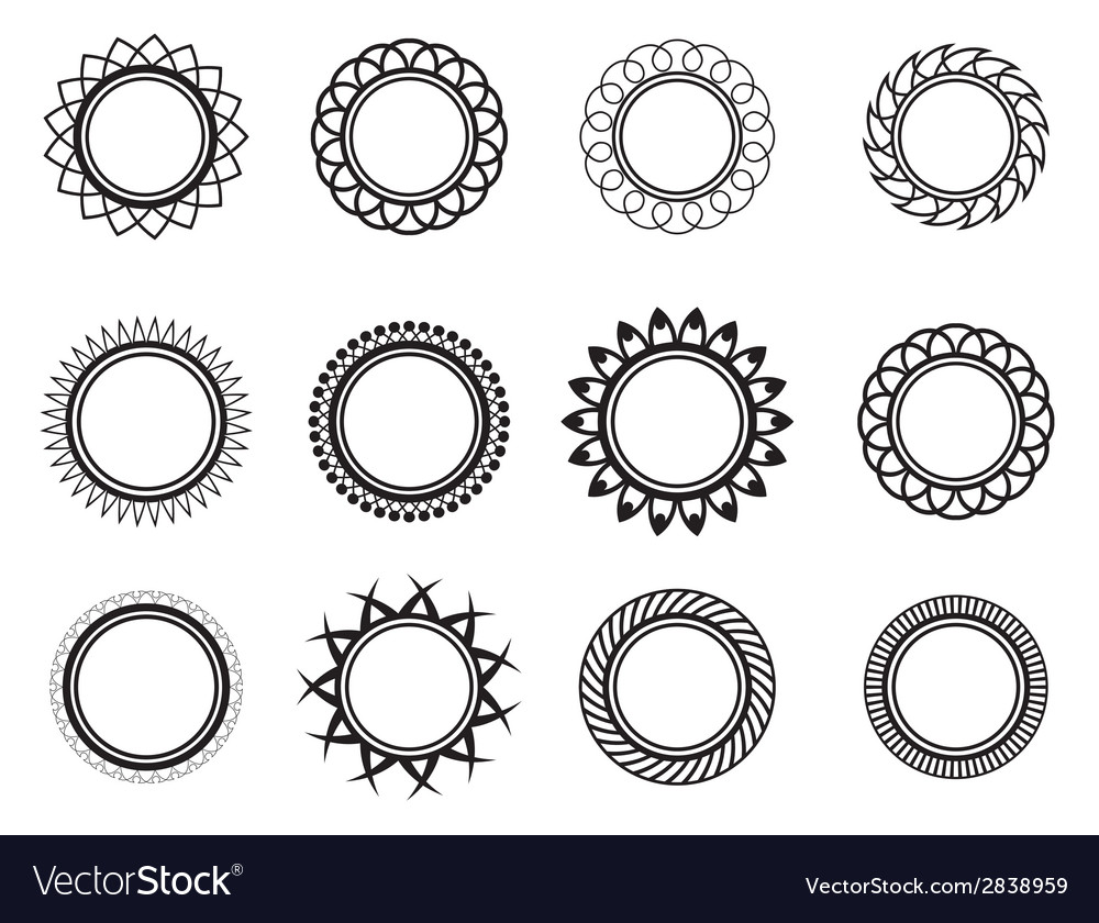 Set template in the form of a nice circle vector