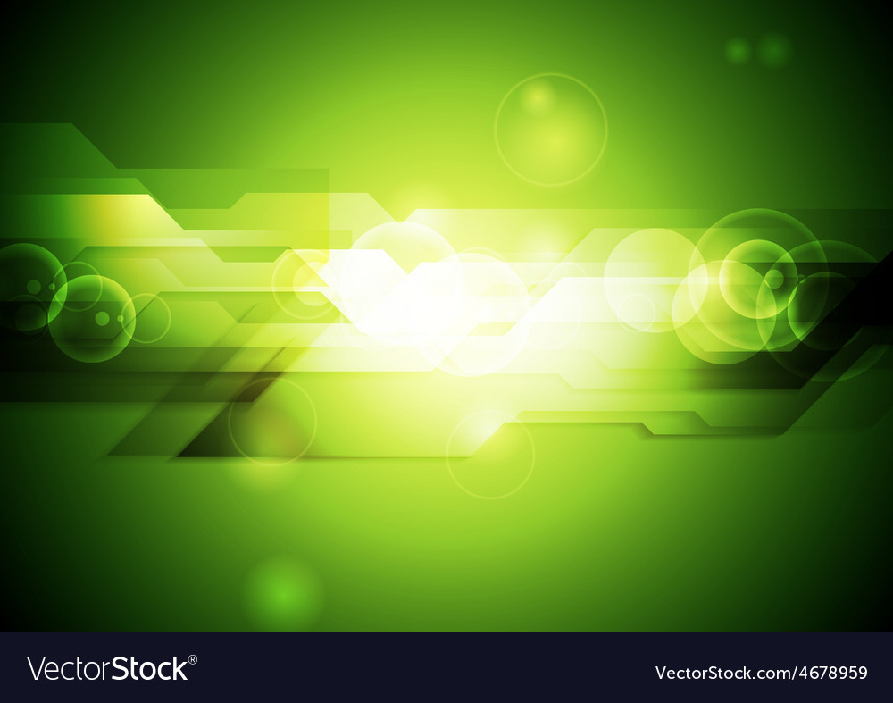Shiny green tech abstract background vector   Price: 1 Credit (USD $1)