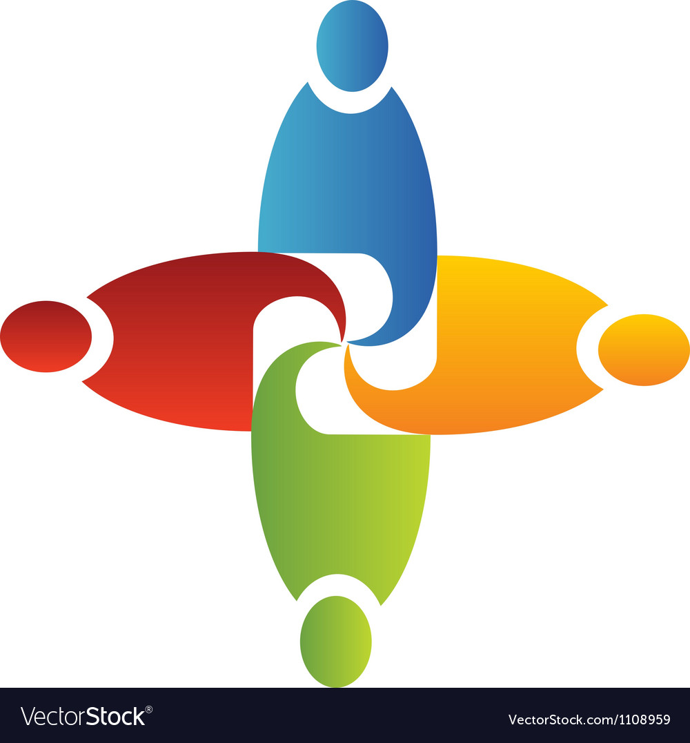 Teamwork unity logo vector | Price: 1 Credit (USD $1)