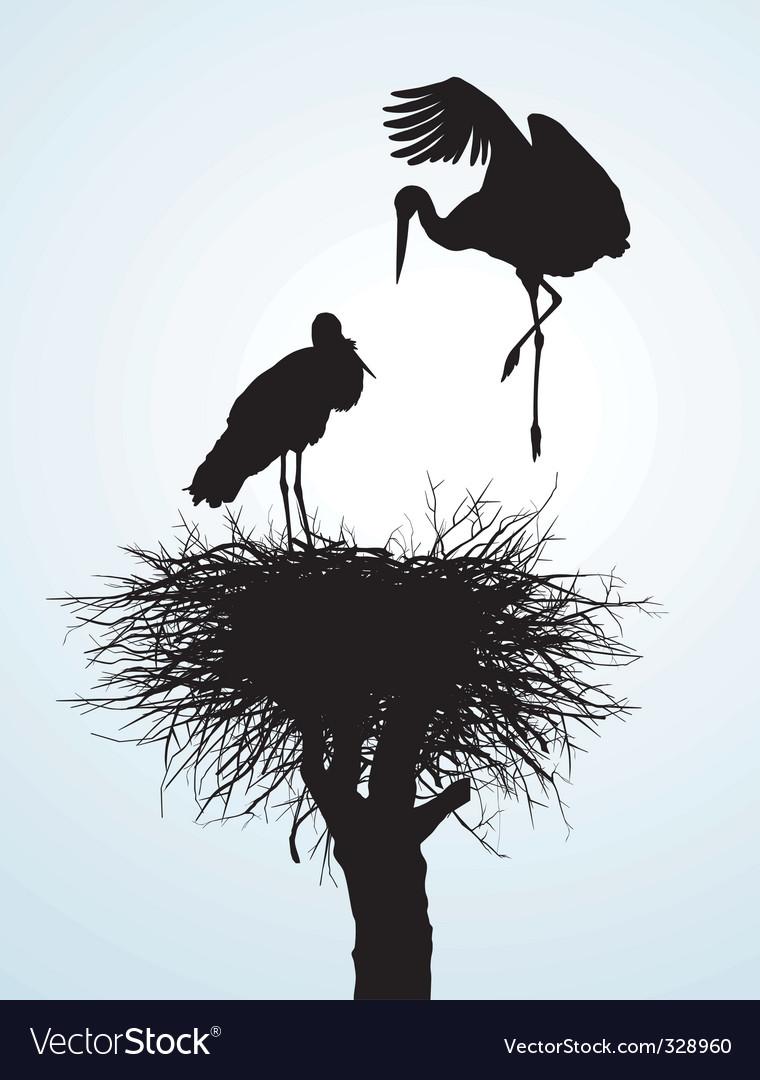 Betrothal storks vector | Price: 1 Credit (USD $1)
