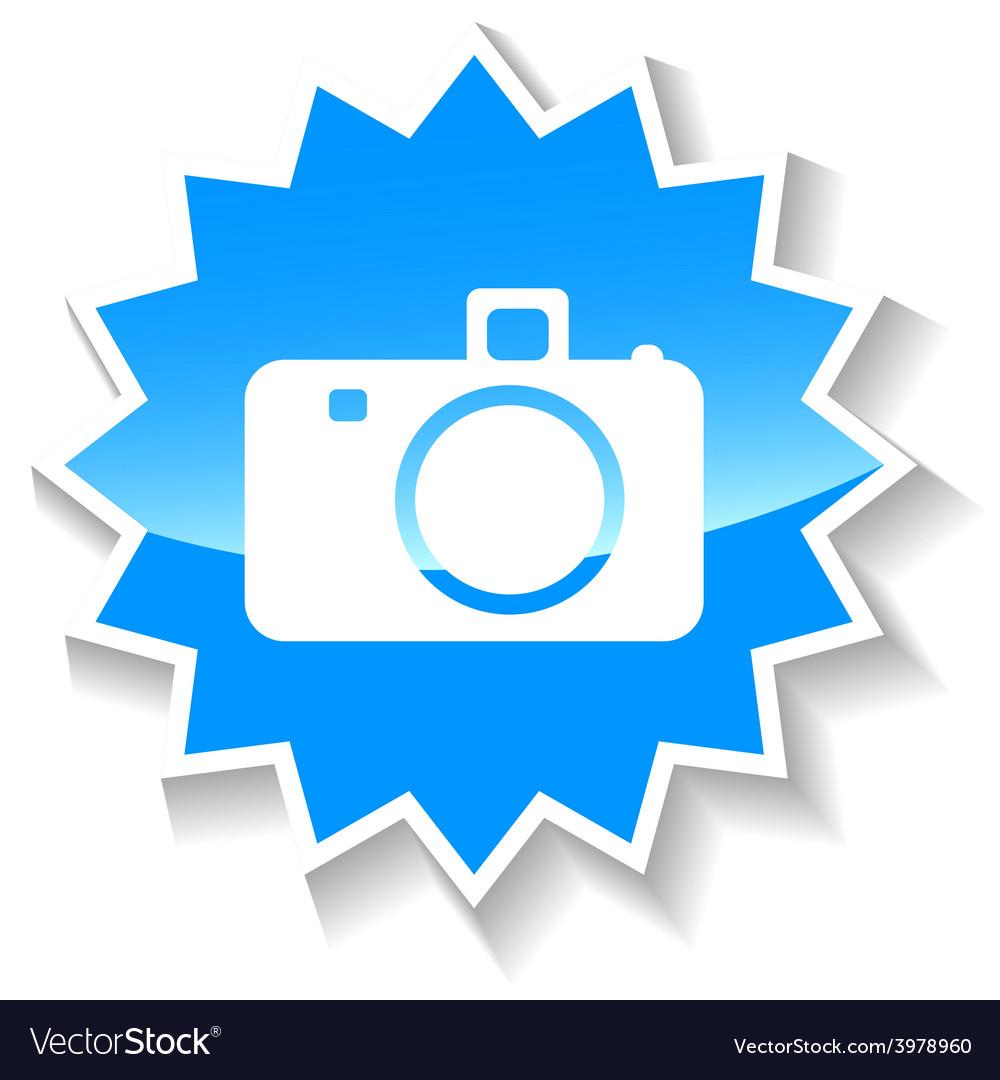 Camera blue icon vector | Price: 1 Credit (USD $1)