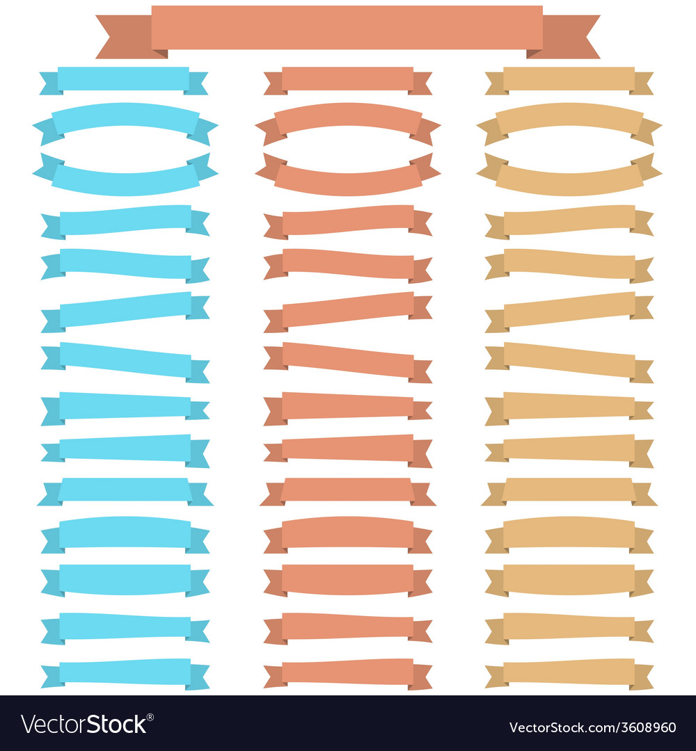 Collection of ribbons vector | Price: 1 Credit (USD $1)