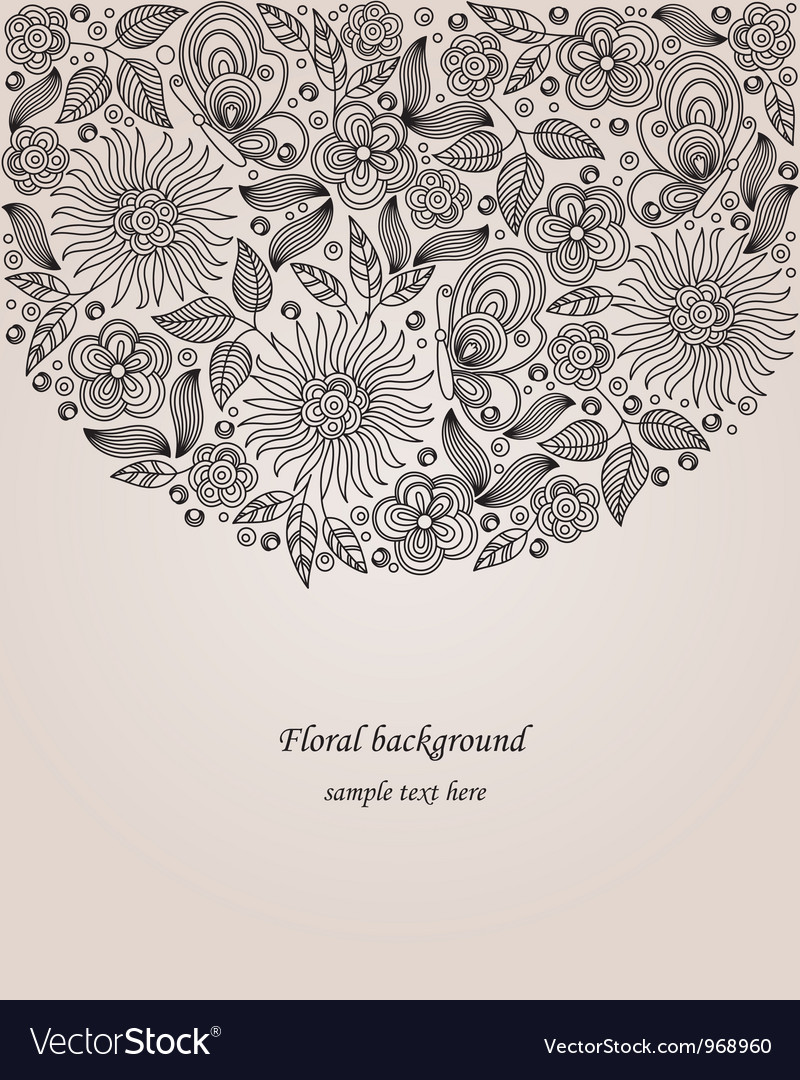 Decorative flower vector | Price: 1 Credit (USD $1)