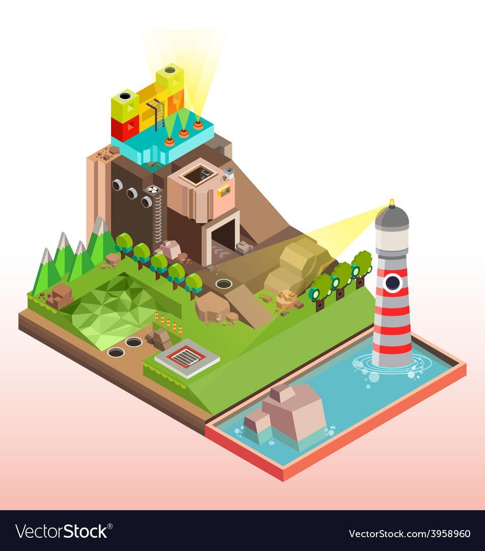 Flat 3d isometric infographics concept art vector | Price: 3 Credit (USD $3)