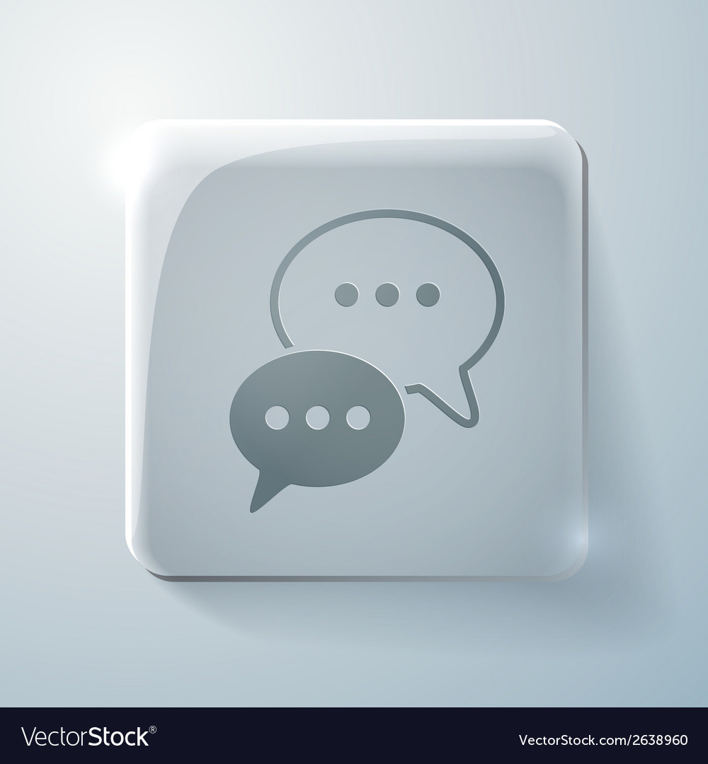 Glass icon cloud of speaking dialogue vector | Price: 1 Credit (USD $1)