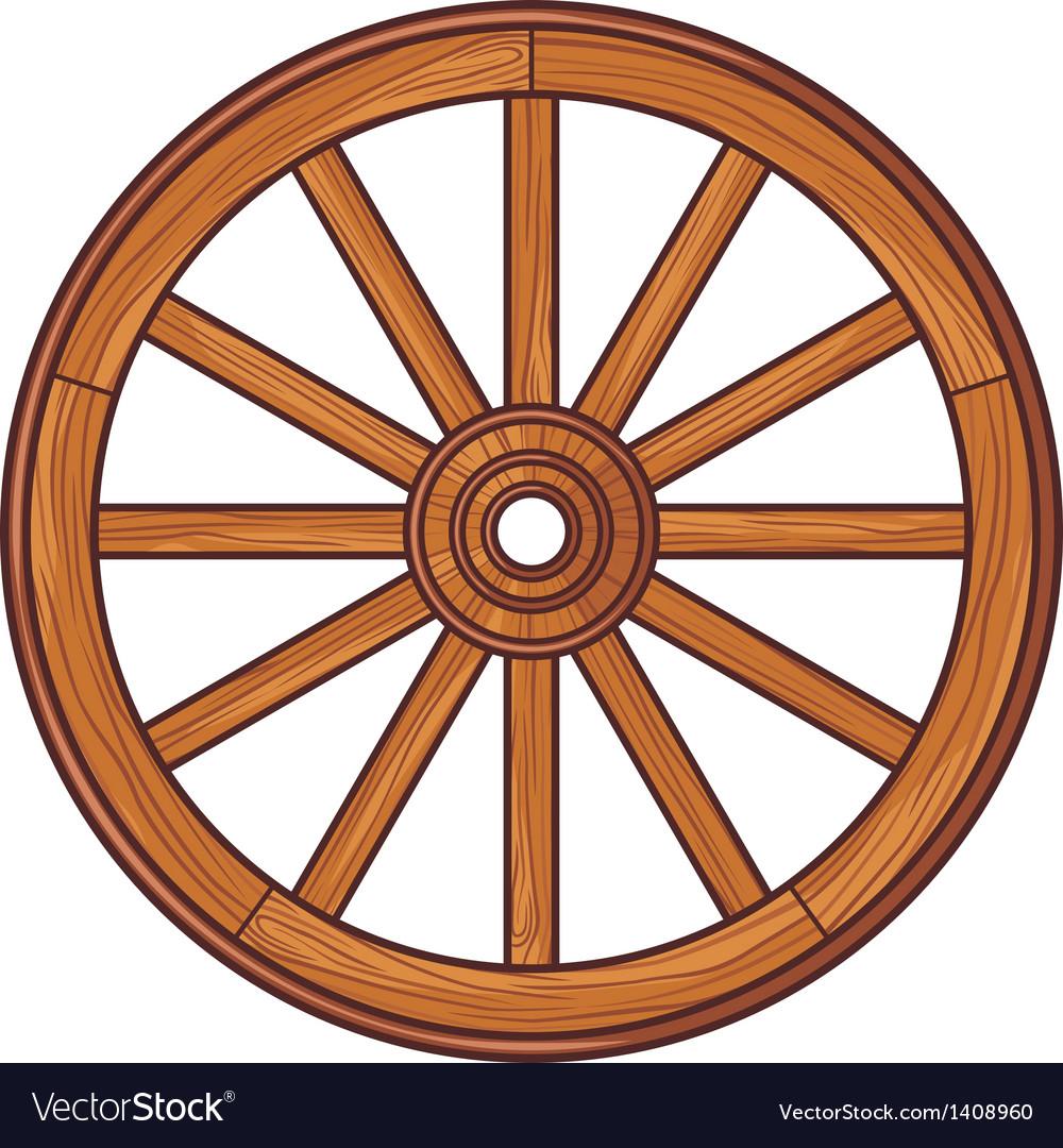 Old wooden wheel vector | Price: 1 Credit (USD $1)