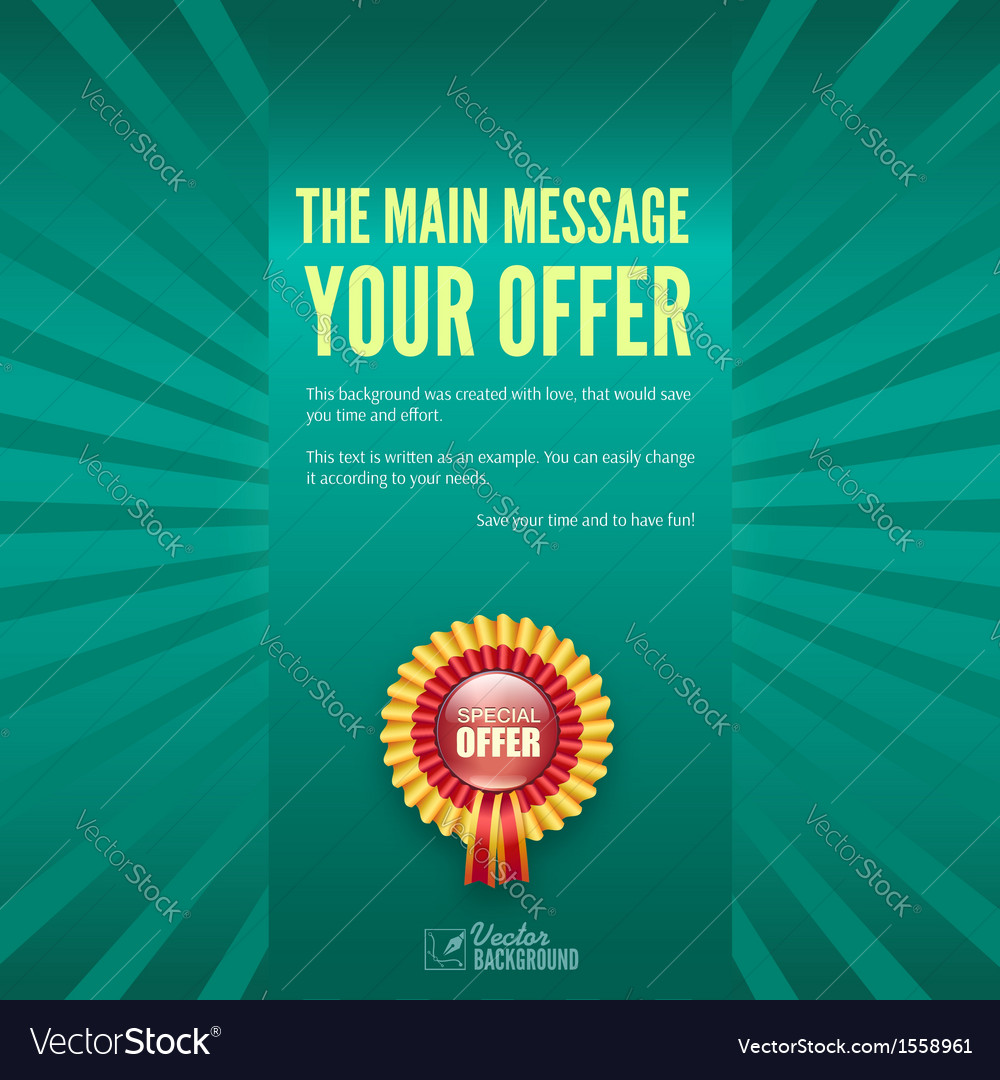 Banner with special offer business background vector | Price: 1 Credit (USD $1)