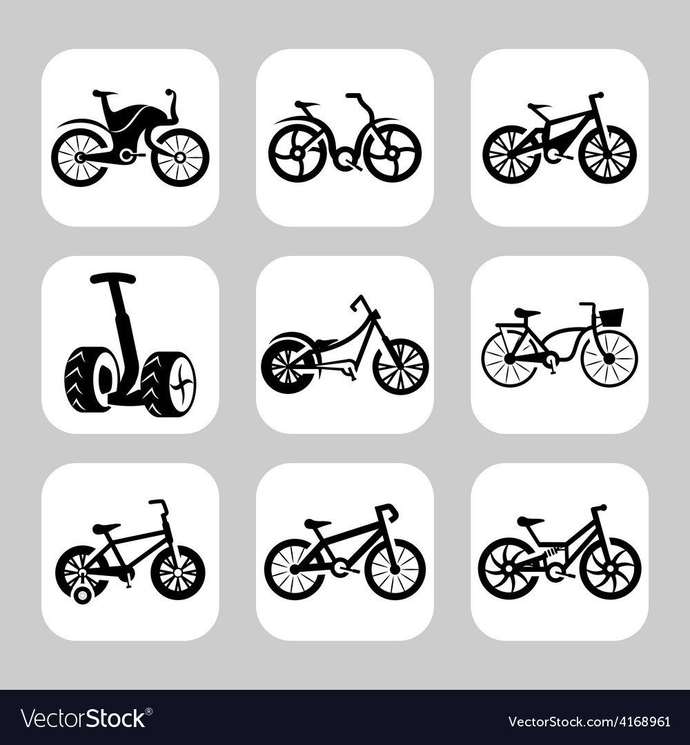 Bicycles icon set vector | Price: 1 Credit (USD $1)