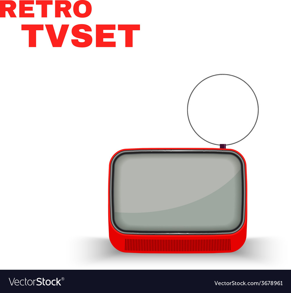 Colorful retro tvset isolated vector | Price: 1 Credit (USD $1)