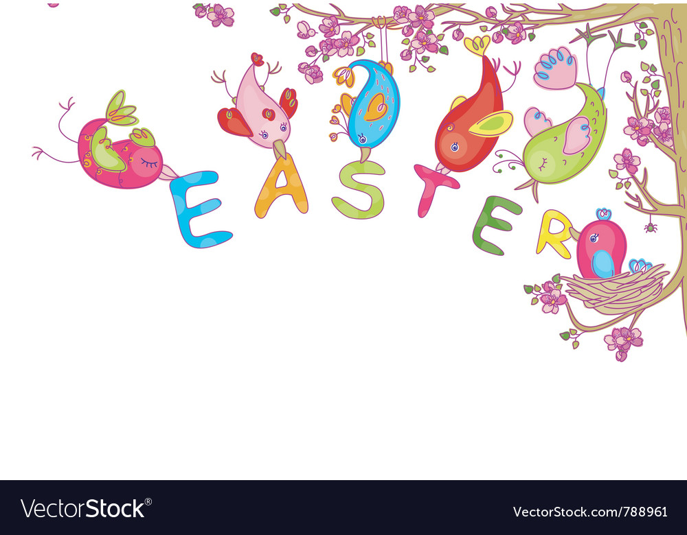Easters and spring design vector | Price: 1 Credit (USD $1)