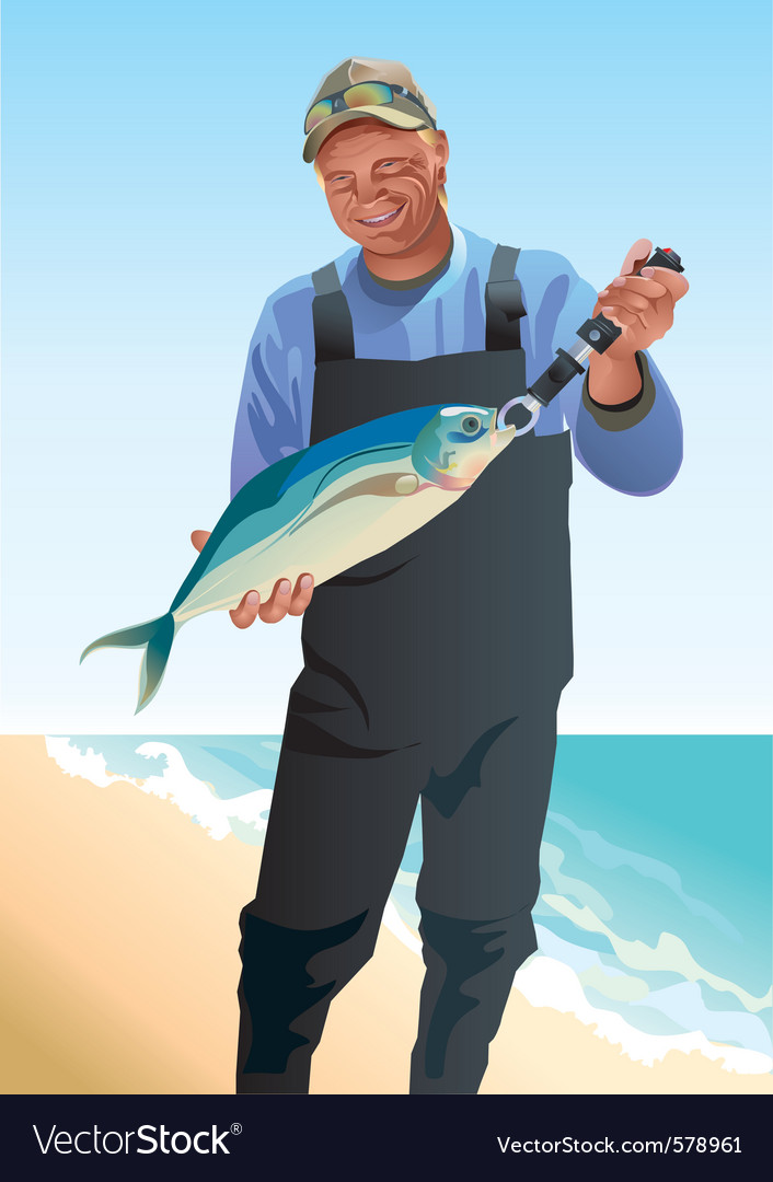 Fisherman vector | Price: 3 Credit (USD $3)