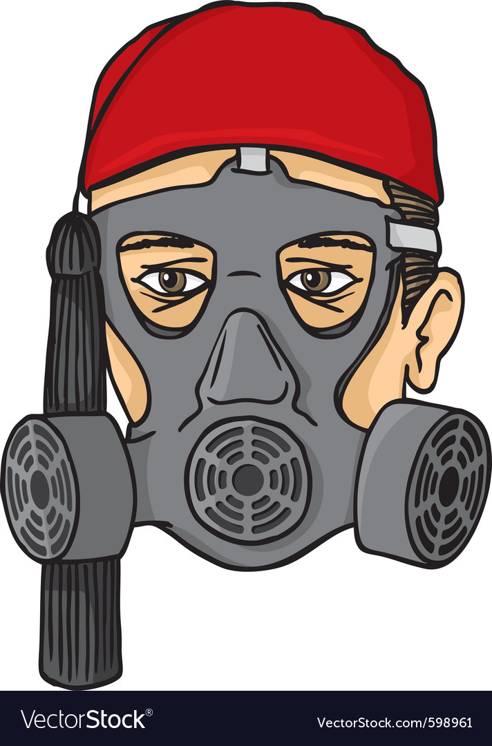 Greek evzone head with gas mask vector   Price: 1 Credit (USD $1)