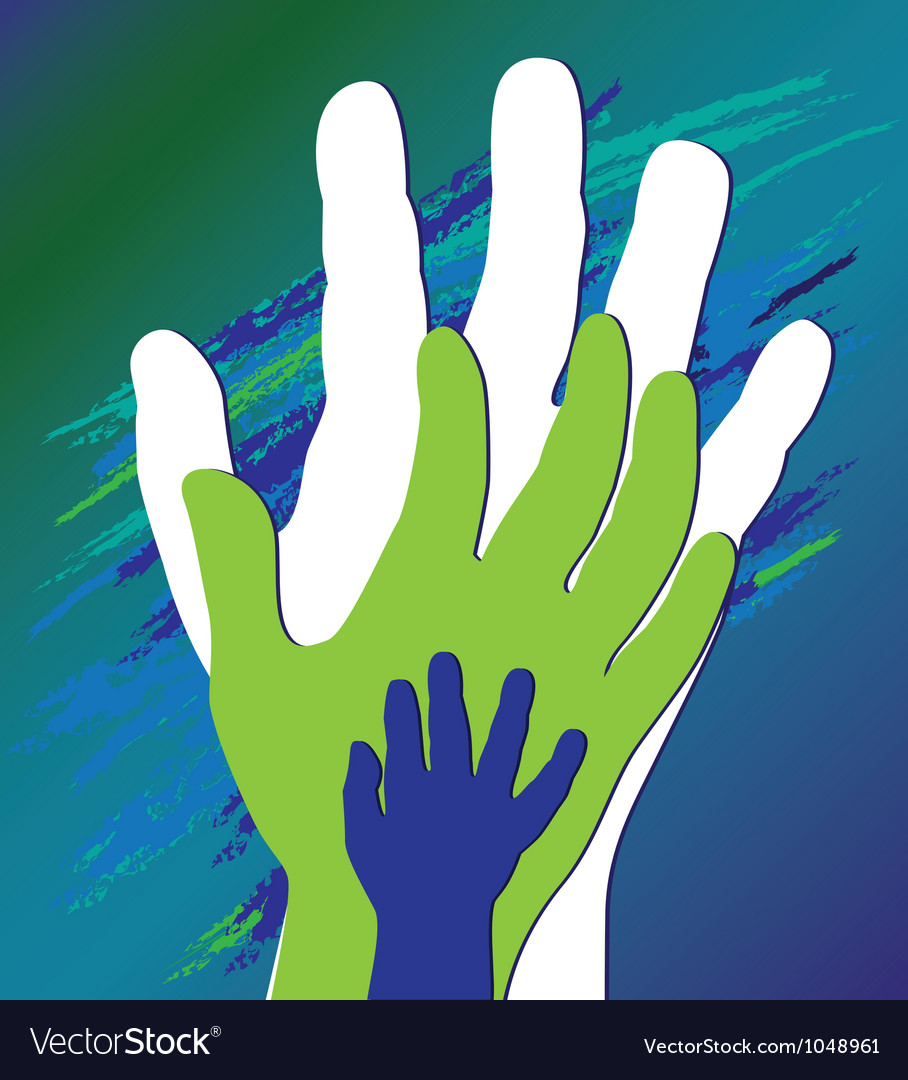 Hand three vector | Price: 1 Credit (USD $1)