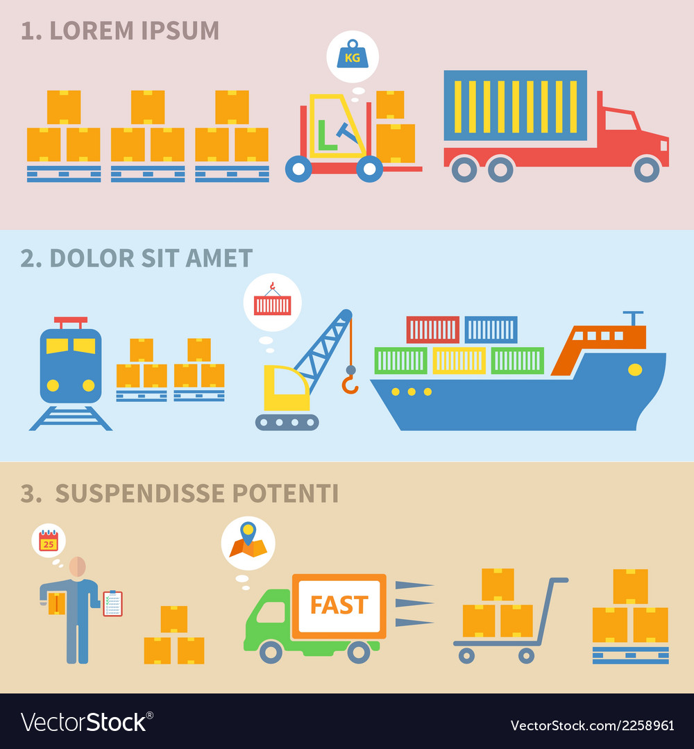 Logistic icons labels vector | Price: 1 Credit (USD $1)