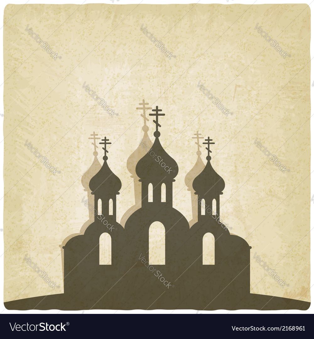 Orthodox church old background vector | Price: 1 Credit (USD $1)