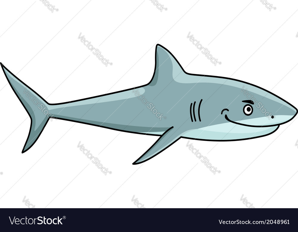 Smiling ferocious shark vector | Price: 1 Credit (USD $1)