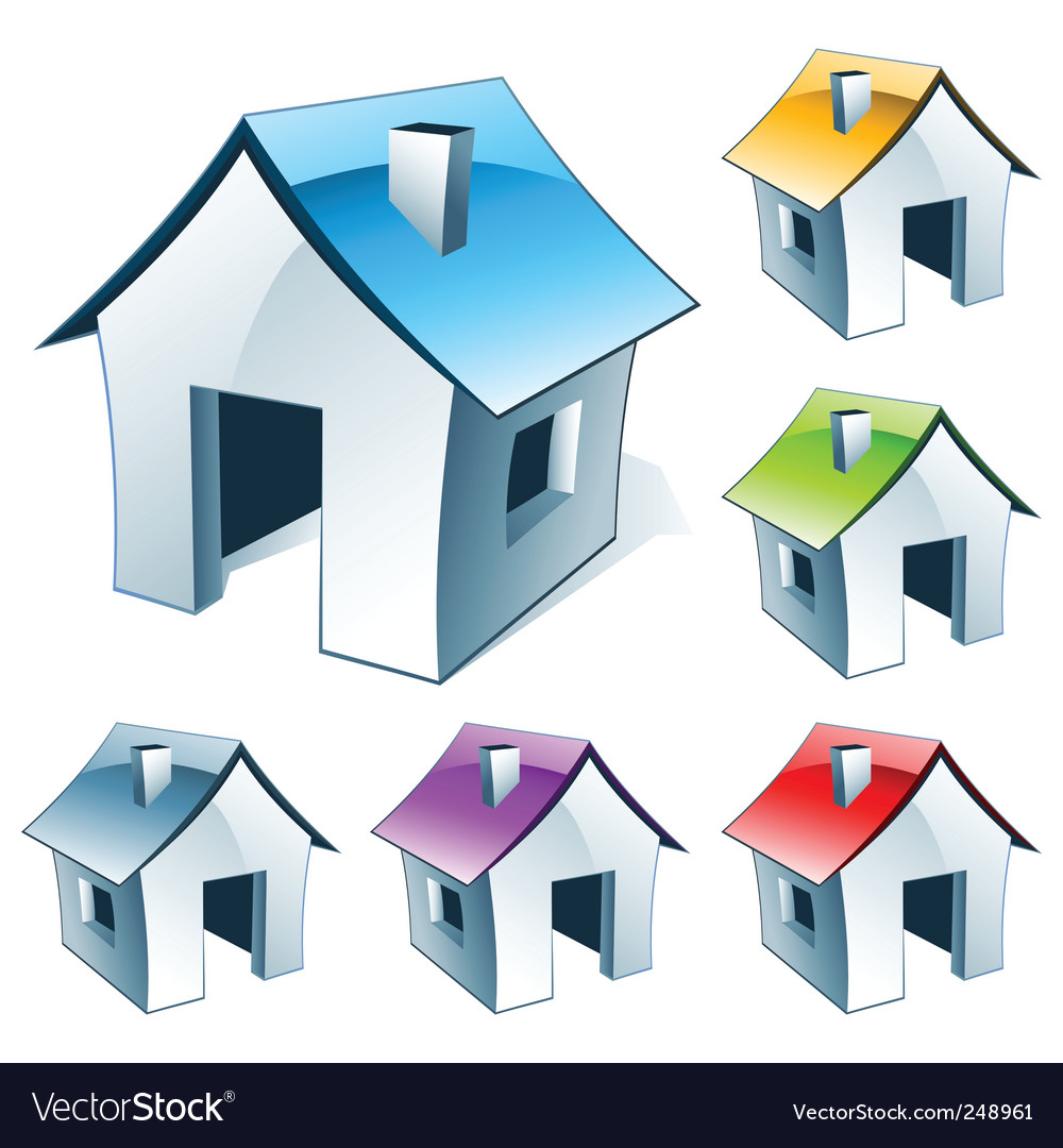Web icon house vector | Price: 1 Credit (USD $1)