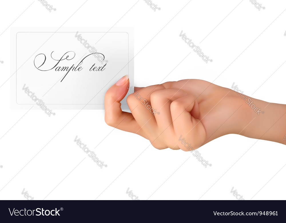Woman hand with card vector | Price: 3 Credit (USD $3)