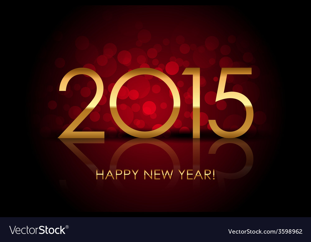 2015 - happy new year red blurred background vector | Price: 1 Credit (USD $1)