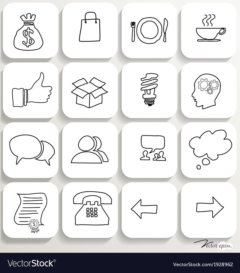 Application icons design set 2 vector | Price: 1 Credit (USD $1)