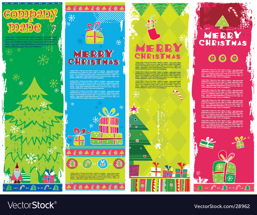 Christmas banners with copy space vector | Price: 3 Credit (USD $3)