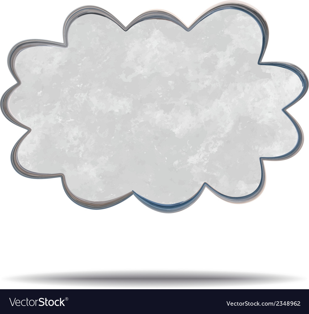 Climate gray cloud vector | Price: 1 Credit (USD $1)
