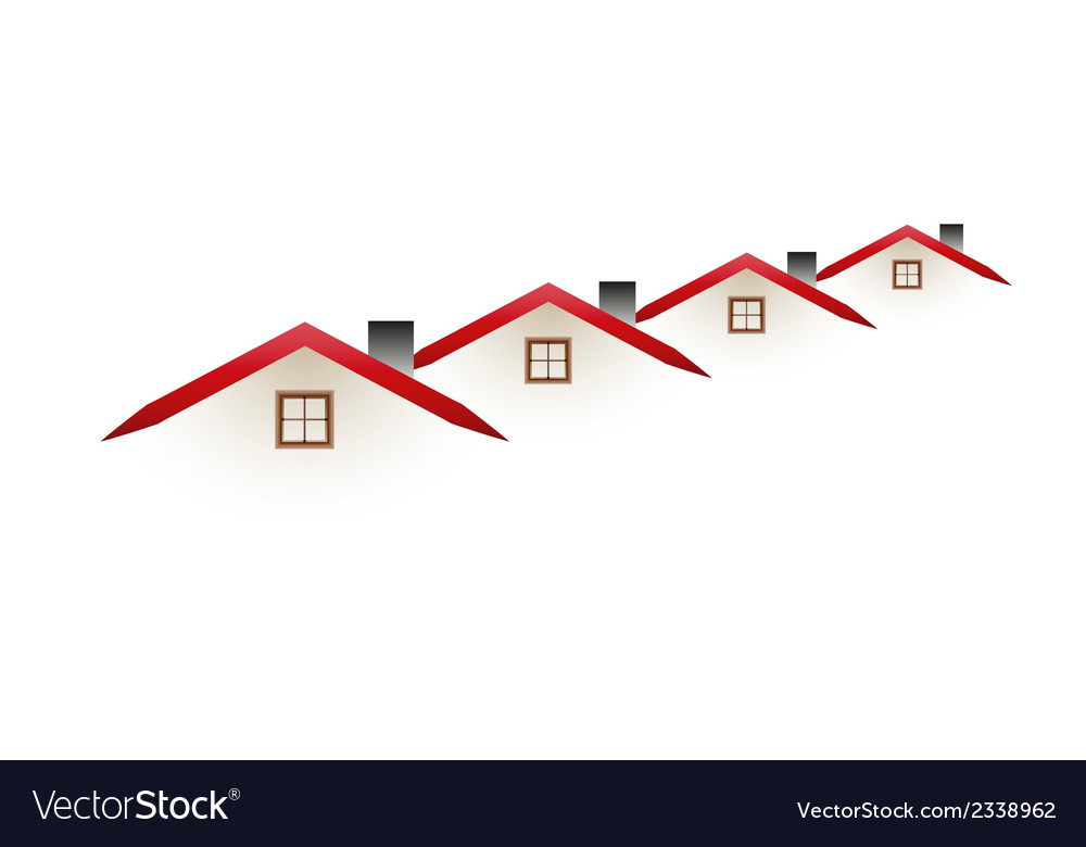 Four houses vector | Price: 1 Credit (USD $1)