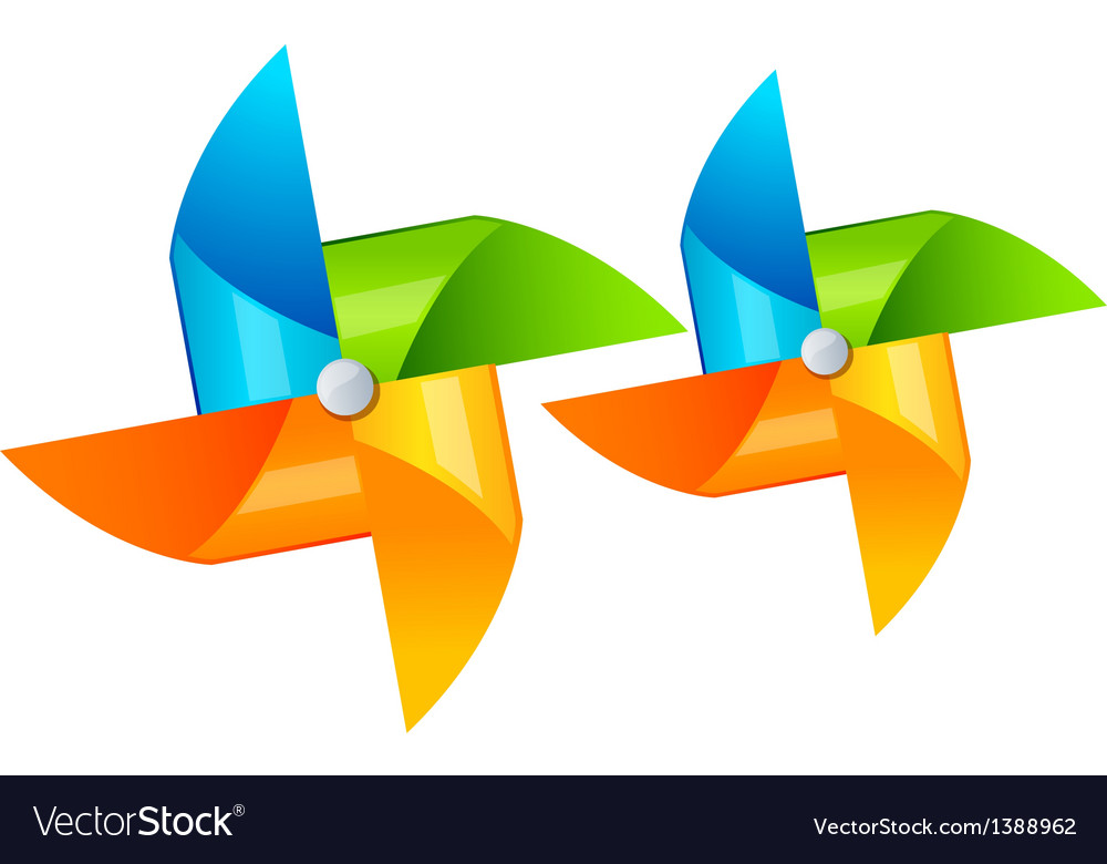 Icon pinwheel vector | Price: 1 Credit (USD $1)