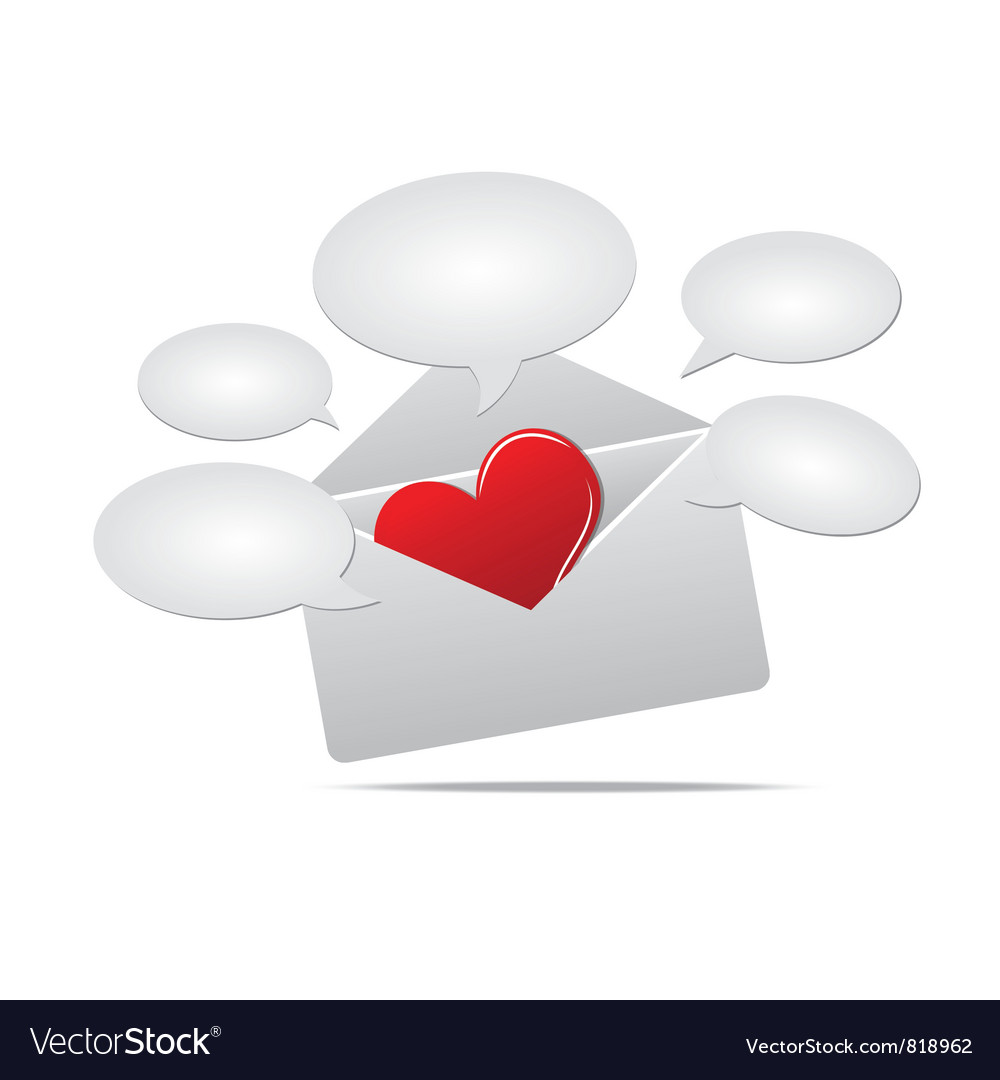Love mail and speech balloon vector | Price: 1 Credit (USD $1)