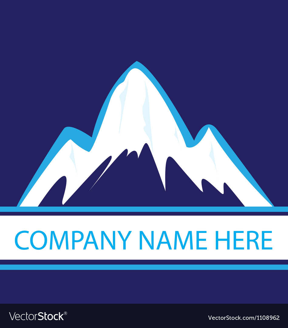 Mountains in navy color logo vector | Price: 1 Credit (USD $1)