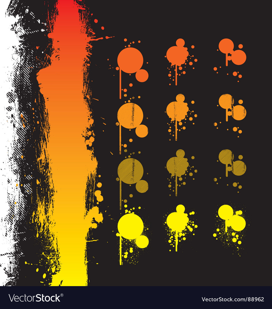 Paint spray elements vector | Price: 1 Credit (USD $1)