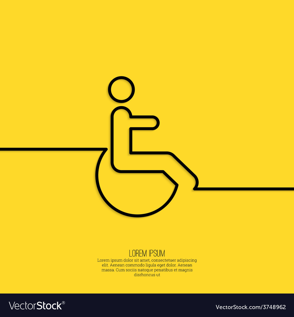 Symbol man on the wheelchair vector | Price: 1 Credit (USD $1)