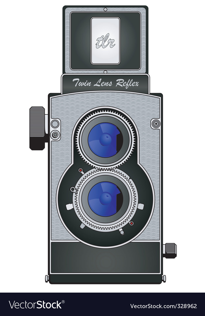 Twin lens reflex camera vector | Price: 1 Credit (USD $1)