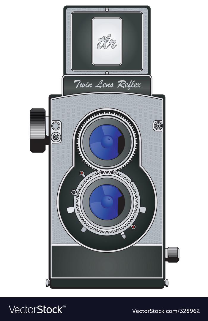 Twin lens reflex camera vector | Price: 1 Credit (USD $1)