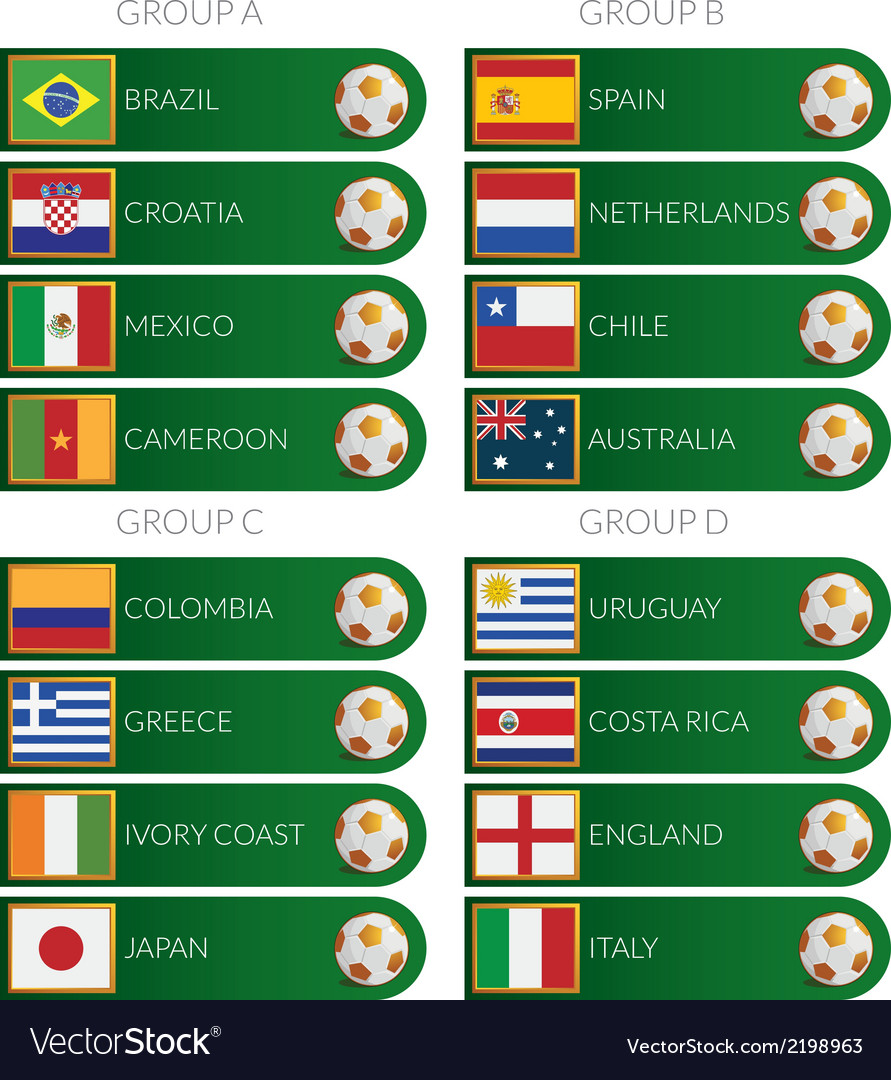 Brazil soccer cup 2014 tags vector | Price: 1 Credit (USD $1)