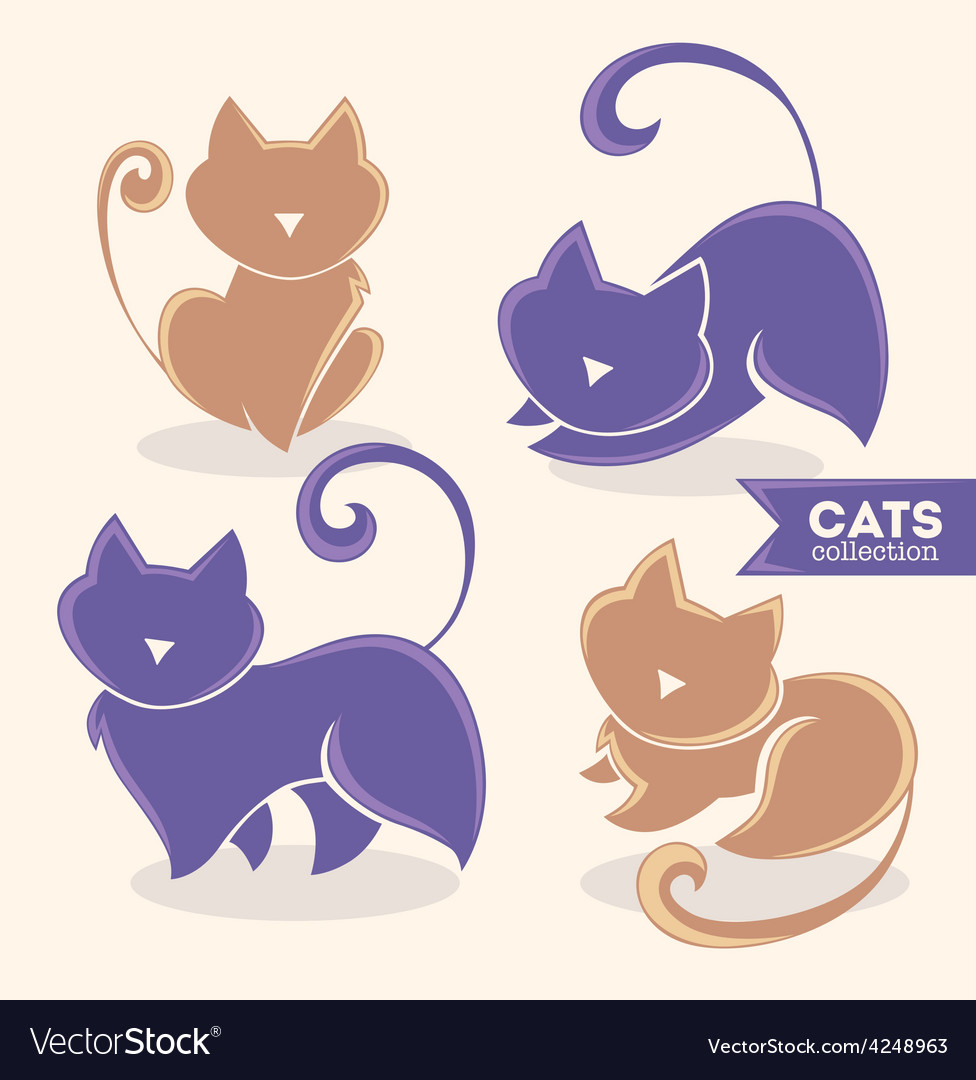 Cats collection vector | Price: 1 Credit (USD $1)