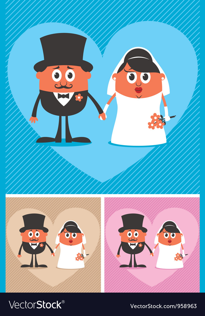Groom and bride vector | Price: 3 Credit (USD $3)