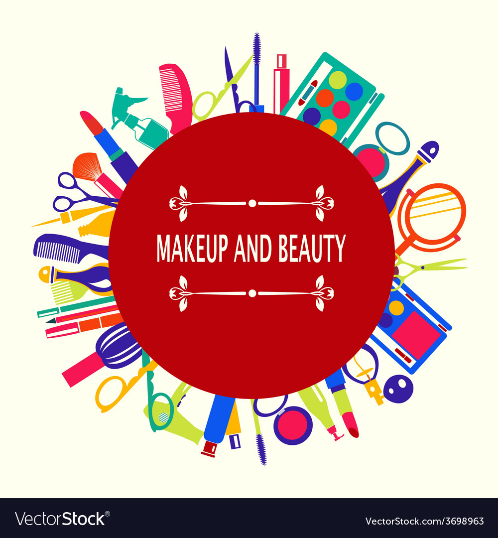Make up and beauty beauty cosmetic vector | Price: 1 Credit (USD $1)