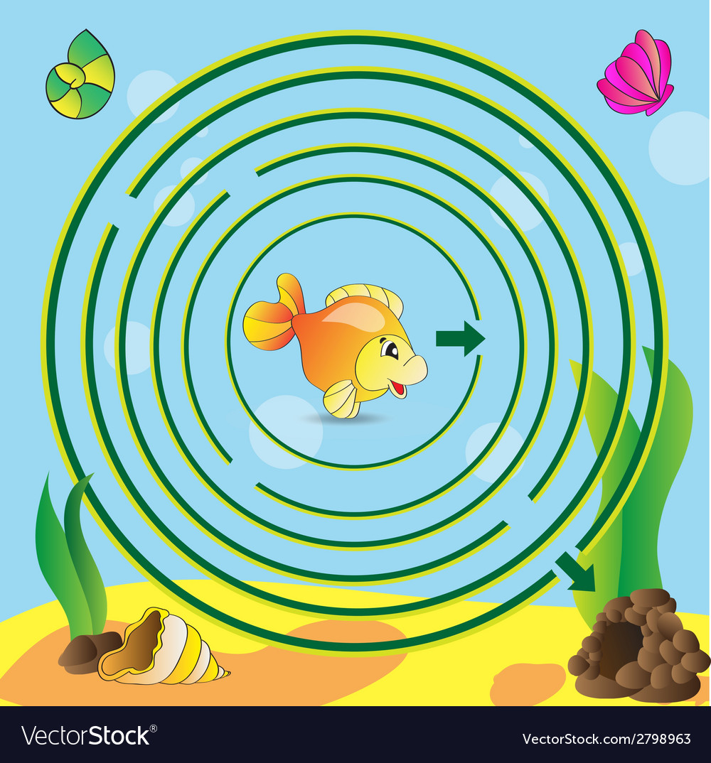Maze game for kids vector | Price: 1 Credit (USD $1)