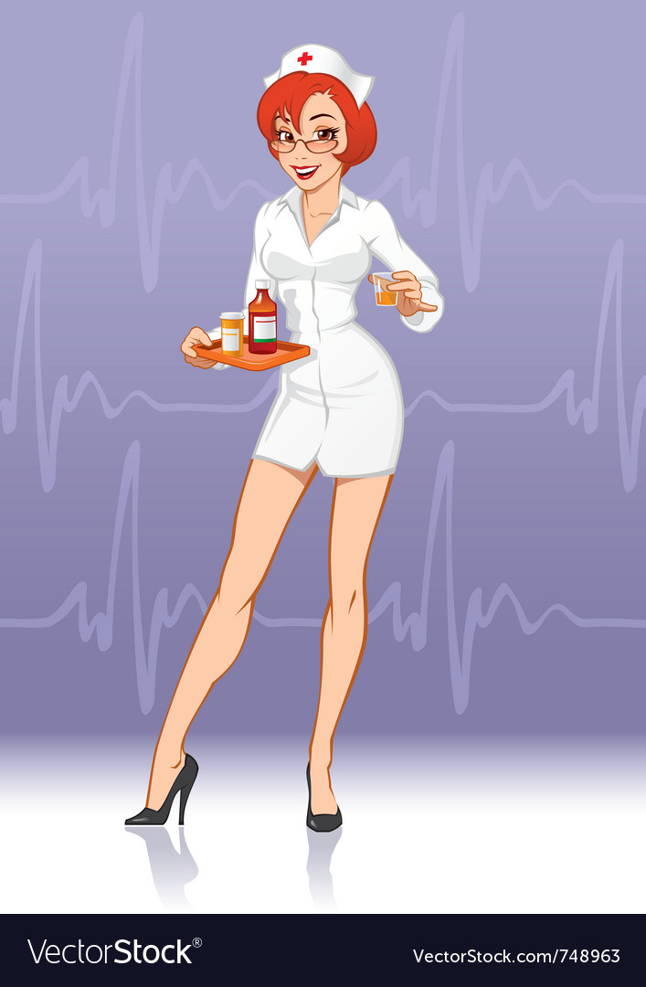 Nurse with medication vector | Price: 3 Credit (USD $3)