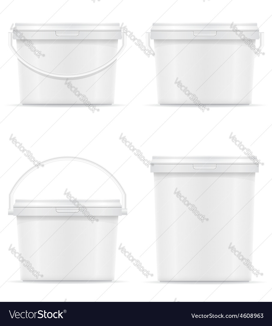 Plastic bucket for paint 08 vector | Price: 3 Credit (USD $3)