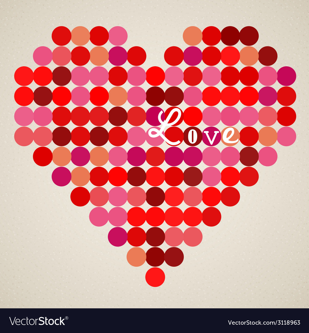 Retro heart vector | Price: 1 Credit (USD $1)