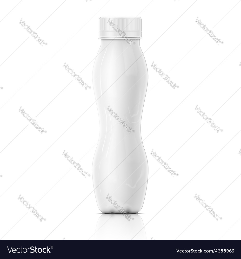 Tall white yougurt bottle template vector | Price: 1 Credit (USD $1)
