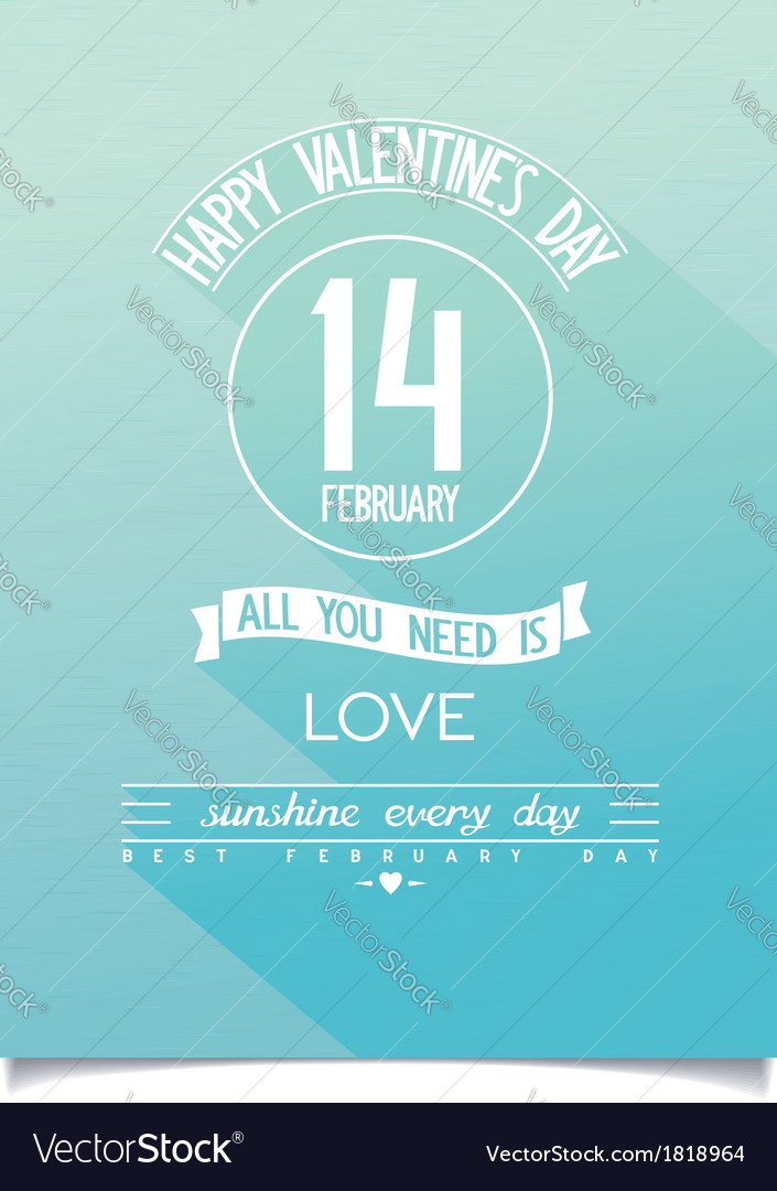 Beautiful happy valentines day poster vector | Price: 1 Credit (USD $1)