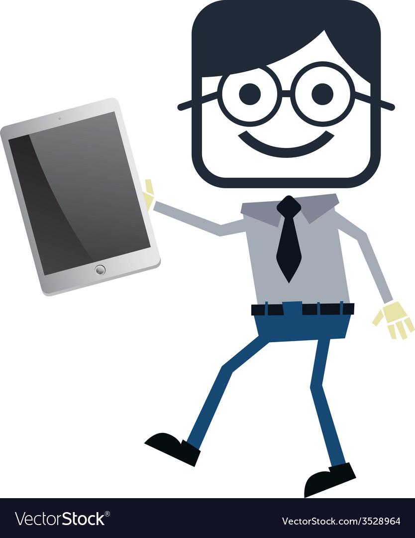 Businessman presentation theme vector   Price: 1 Credit (USD $1)