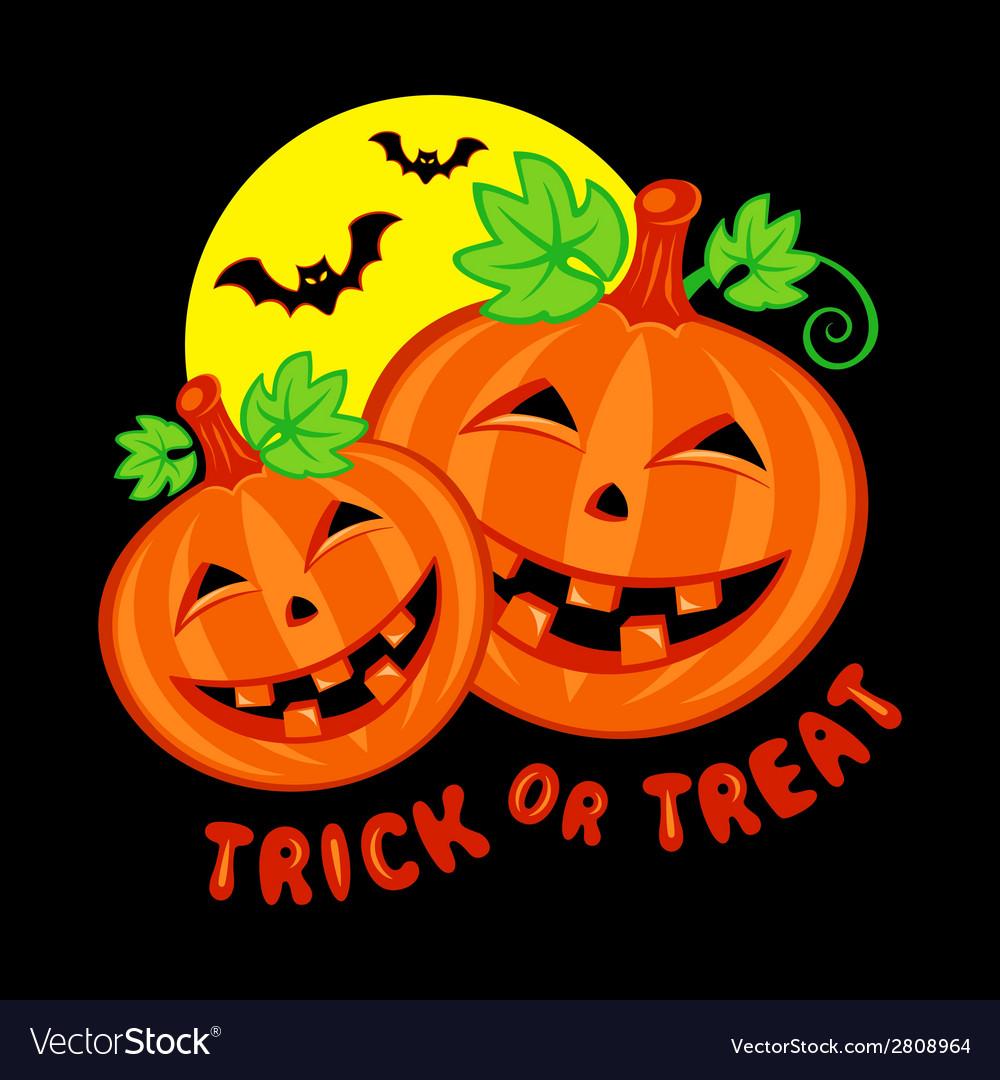 Halloween pumpkins vector | Price: 1 Credit (USD $1)