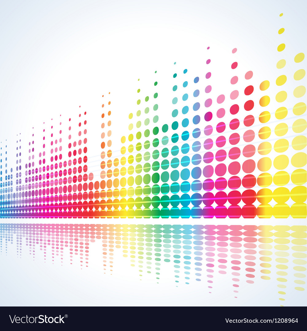 Musical lights background vector | Price: 1 Credit (USD $1)