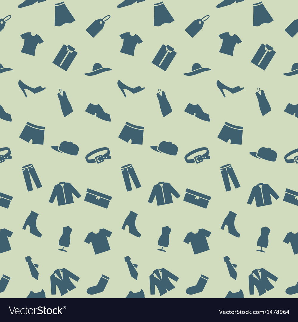 Seamless pattern with clothes footwear and vector | Price: 1 Credit (USD $1)