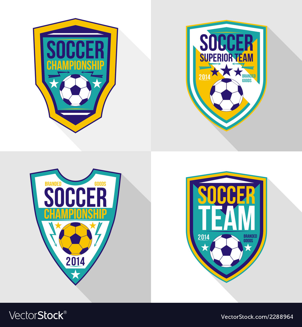 Set of soccer championship emblems vector | Price: 1 Credit (USD $1)