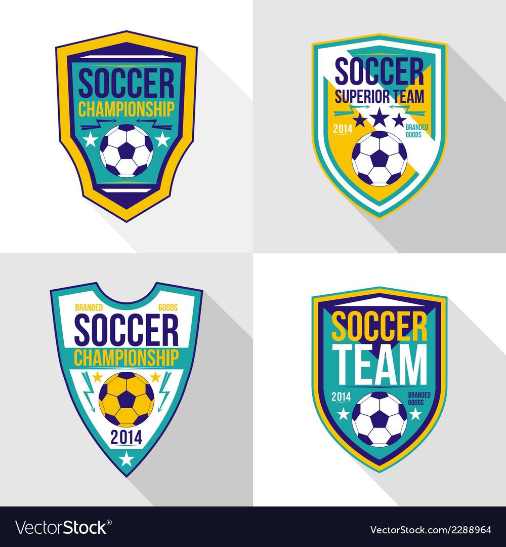Set of soccer championship emblems vector | Price: 1 Credit (USD $1)